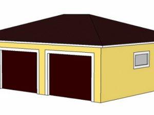 Каркасный гараж из бруса