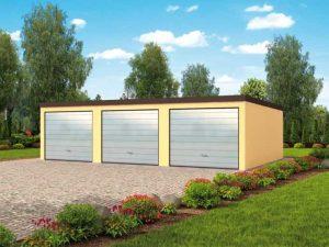 Проект гаража из блоков