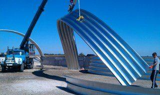 Строительство бескаркасных арочных ангаров