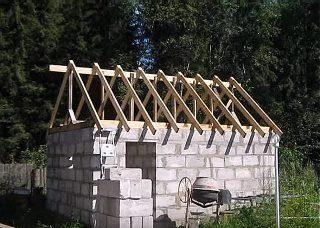 Фото строительства бани из пеноблоков процесс