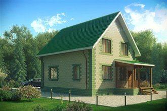 Проекты домов 7х10 из пеноблоков