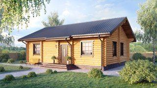 Проекты одноэтажных домов из бревна в Санкт-Петербурге