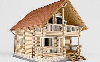 Проекты домов 5х5 из оцилиндрованного бревна в Санкт-Петербурге