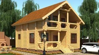 Проекты домов 5х6 из оцилиндрованного бревна в Санкт-Петербурге