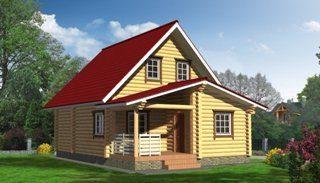 Проекты домов из бревна в Санкт-Петербурге