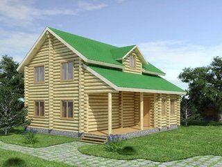 Проекты домов из бревна 5х7 в Санкт-Петербурге