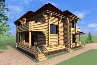 Проекты домов 5х8 из оцилиндрованного бревна в Санкт-Петербурге
