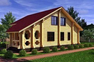 Проекты домов 6х8 из оцилиндрованного бревна в Санкт-Петербурге