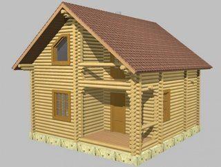 Проекты домов 6х9 из оцилиндрованного бревна в Санкт-Петербурге