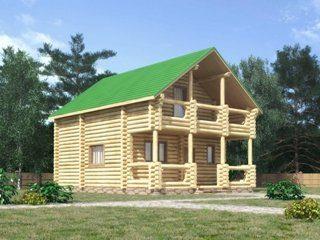 Проекты домов 7х7 из оцилиндрованного бревна в Санкт-Петербурге