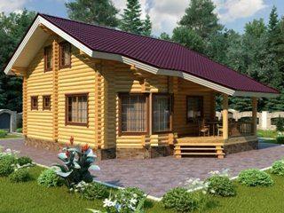 Проекты домов 7х9 из оцилиндрованного бревна в Санкт-Петербурге