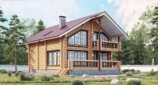 Проекты домов 8х10 из оцилиндрованного бревна в Санкт-Петербурге