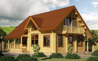 Проекты домов 9х9 из оцилиндрованного бревна в Санкт-Петербурге