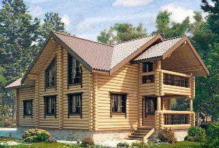 Проекты домов 9х10 из оцилиндрованного бревна в Санкт-Петербурге