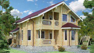 Проекты домов 9х12 из оцилиндрованного бревна в Санкт-Петербурге