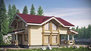 Проекты домов 10х10 из оцилиндрованного бревна в Санкт-Петербурге