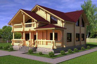 Проекты домов 10х12 из оцилиндрованного бревна в Санкт-Петербурге