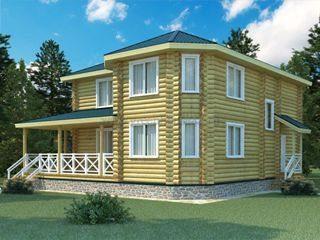 Проекты домов 12х12 из оцилиндрованного бревна в Санкт-Петербурге