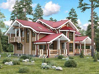 Проекты домов 15х15 из оцилиндрованного бревна в Санкт-Петербурге