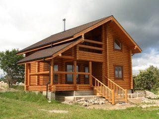 Строительство дома из бревна в Ленинградской области