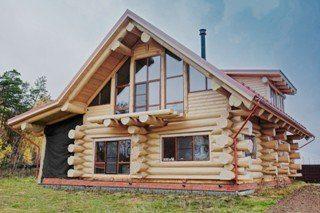 Строительство дома из бревна ручной рубки в Санкт-Петербурге