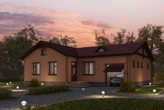 Проекты одноэтажных домов из кирпича в Санкт-Петербурге