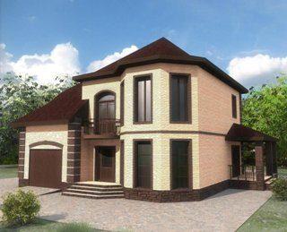 Проекты двухэтажных домов из кирпича в Санкт-Петербурге