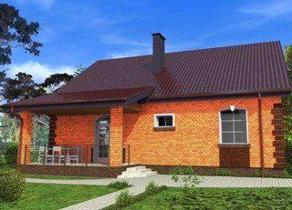 Проекты домов из кирпича 4х6 в Санкт-Петербурге