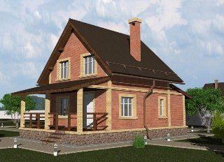 Проекты домов из кирпича 6х8 в Санкт-Петербурге