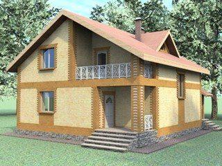 Проекты домов из кирпича 7х8 в Санкт-Петербурге