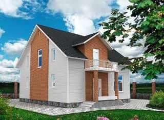 Проекты домов из кирпича 9х9 в Санкт-Петербурге