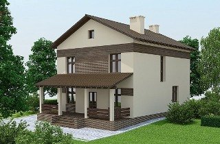 Проекты домов из кирпича 9х10 в Санкт-Петербурге