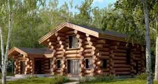 Дома из бревна северного леса ручной рубки в Санкт-Петербурге