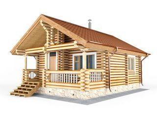 Строительство дома из бревна до 50 кв.м в Санкт-Петербурге