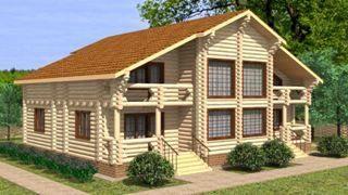 Строительство дома из бревна до 300 кв.м в Санкт-Петербурге
