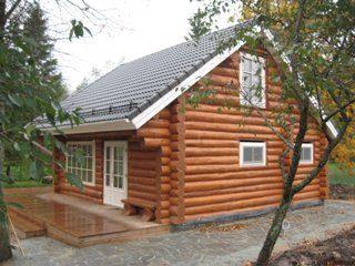 Садовый (дачный) дом из бревна в Санкт-Петербурге