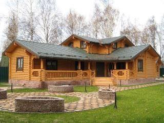 Дом из бревна с баней (сауной) в Санкт-Петербурге