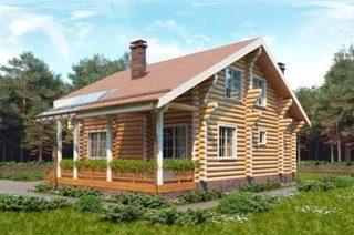 Дом из бревна камерной сушки в Санкт-Петербурге