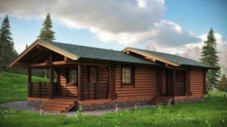 Одноэтажные дома из бревна до 100 км.м в Санкт-Петербурге