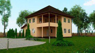 Двухэтажные дома из сэндвич-панелей в Санкт-Петербурге