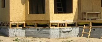 мелкозаглубленный ленточный фундамент под каркасный дом