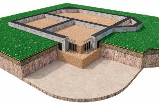 Мелкозаглубленный фундамент для малоэтажных зданий