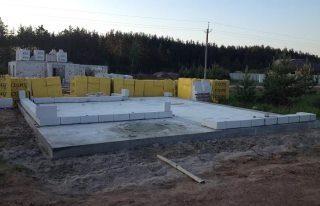 Фото процесса Монолитный фундамент для бани в Санкт-Петербурге