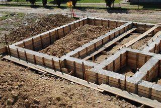 Фото процесса Ленточный фундамент под дом из бруса
