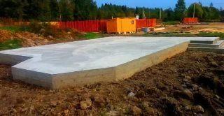 Фото процесса строительства Монолитный фундамент 6 на 6 в Санкт-Петербурге
