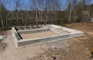 Фото процесса строительства Ленточный фундамент в Ленинградской области