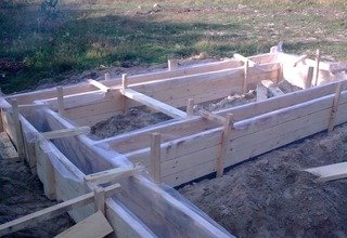 Строительство ленточного фундамента 7 на 7 в Санкт-Петербурге