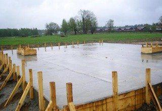 Строительство монолитного фундамента для одноэтажного дома под ключ