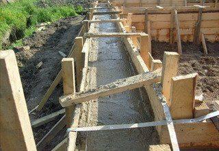 Строительство ленточного фундамента 9 на 9 в Санкт-Петербурге