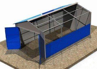 Строительство металлических гаражей под ключ